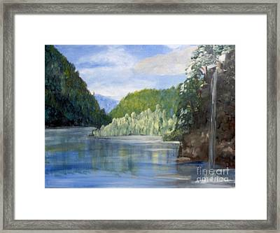 Framed Print featuring the painting Cool Water by Saundra Johnson