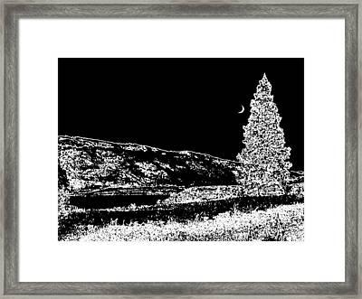 Cool Winter Night Framed Print