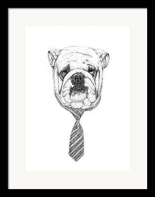 Office Drawings Framed Prints