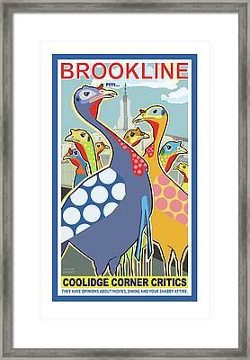 Coolidge Corner Critics Framed Print