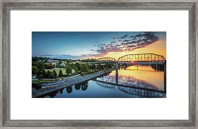 Coolidge Park Sunrise Panoramic Framed Print