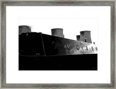 Framed Print featuring the photograph Cooling Barge by Jez C Self