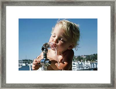 Cooling Off Framed Print by Randy Sprout