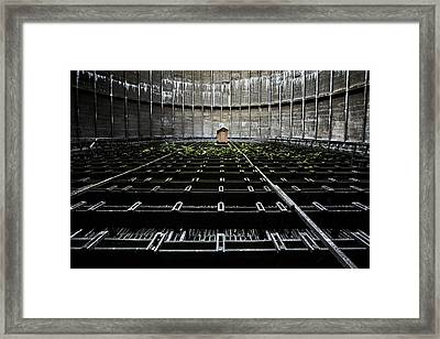 Framed Print featuring the photograph Cooling Tower Water Distribution by Dirk Ercken