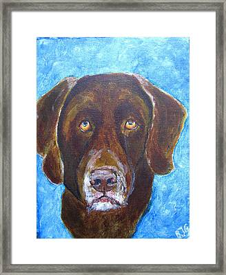 Framed Print featuring the painting Cooper 3 by Barbara Giordano
