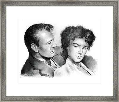Cooper And Bacall Framed Print