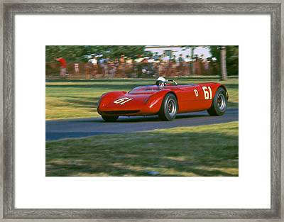 Cooper Monoco At Racing Speed Framed Print by Fred Lassmann