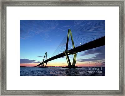 Cooper River Bridge Charleston Sc Framed Print by Dustin K Ryan
