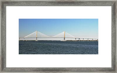 Cooper River Bridge Framed Print
