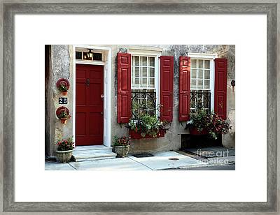 Coordinated In Charleston Framed Print