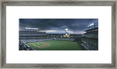 Coors Field, Denver, Colorado Framed Print by Michael S. Lewis