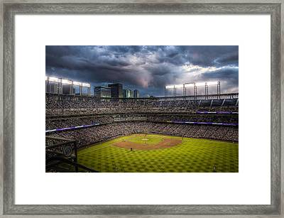 Coors Field Mood Framed Print by Jessica Brooks