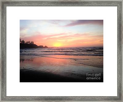 Framed Print featuring the painting Coos Bay by Linda Shackelford
