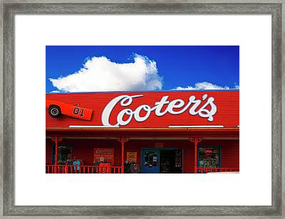 Cooters - The Dukes Of Hazard Museum In Nashville Tn, Usa Framed Print