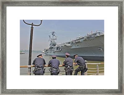 Cop Chit Chat Framed Print by Jerry Patterson