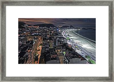 Copacabana Lights Framed Print