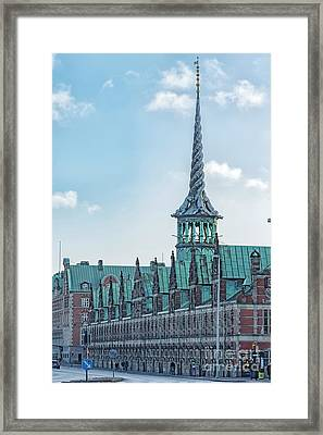 Framed Print featuring the photograph Copenhagen Borsen Stock Exchange Building by Antony McAulay