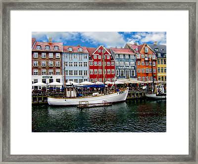 Copenhagen - Denmark Framed Print by Anthony Dezenzio