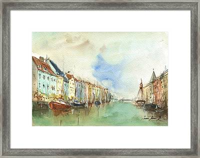 Copenhagen Harbour Framed Print by Juan Bosco