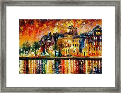 Copenhagen Original Oil Painting  Framed Print by Leonid Afremov