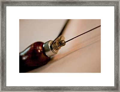 Coping Saw And Blade Framed Print