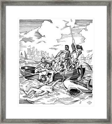 Copley Shark Framed Print by Gary Peterson