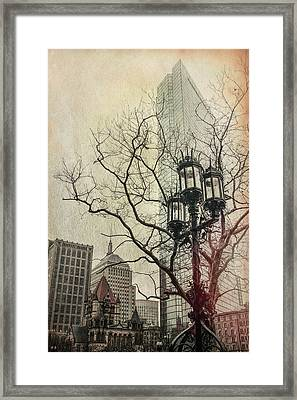 Framed Print featuring the photograph Copley Square - Boston by Joann Vitali