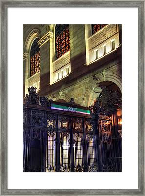 Framed Print featuring the photograph Copley Square T Stop - Boston by Joann Vitali