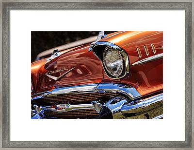 Copper 1957 Chevy Bel Air Framed Print by Gordon Dean II