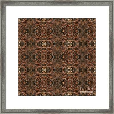 Copper Abstract 1 Framed Print