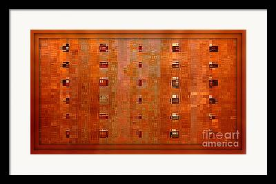 Warm Colours Abstract Framed Prints