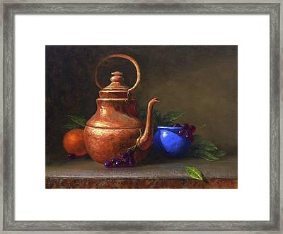 Copper And Cobalt Framed Print
