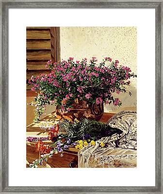 Copper And Lace Framed Print by David Lloyd Glover