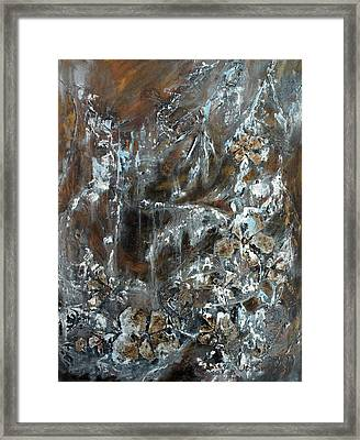 Framed Print featuring the painting Copper And Mica by Joanne Smoley