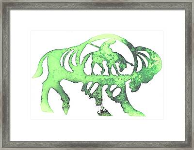 Copper Buffalo Framed Print