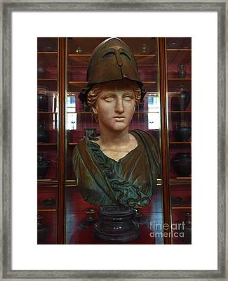 Copper Bust In Rome Framed Print by Doc Braham