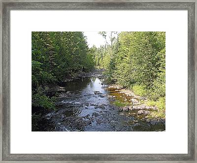 Copper Falls  River Framed Print