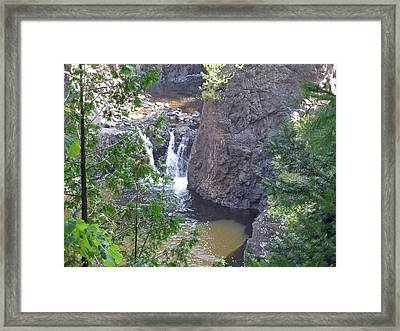 Copper Falls Framed Print