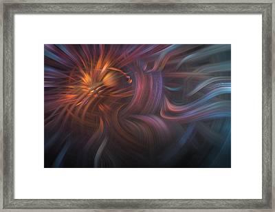 Copper Flames Framed Print by Debra and Dave Vanderlaan