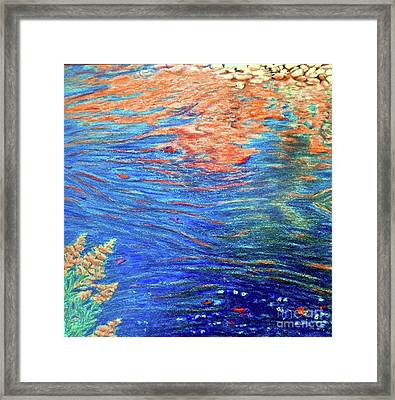 Copper Flow Framed Print