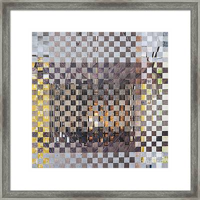 Framed Print featuring the mixed media Copper Glow by Jan Bickerton