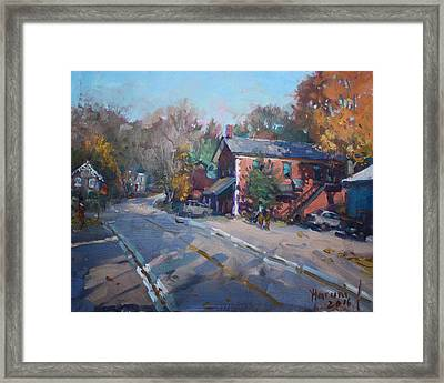 Copper Kettle Pub In Glen Williams On Framed Print by Ylli Haruni