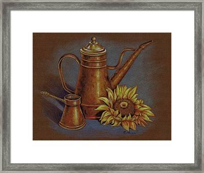 Copper Kettle Framed Print