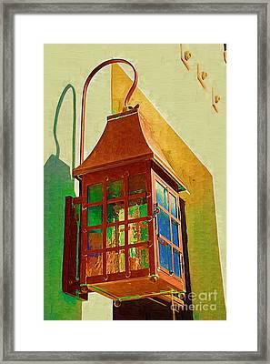 Copper Lantern Framed Print