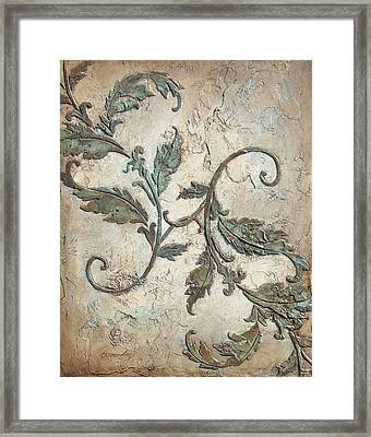 Copper Leaves Framed Print