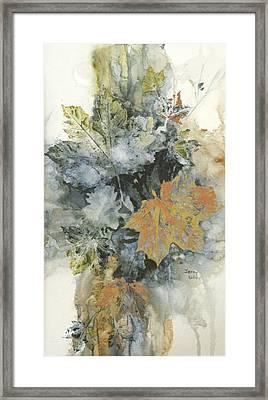 Copper Leaves Framed Print