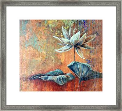 Copper Lotus Framed Print