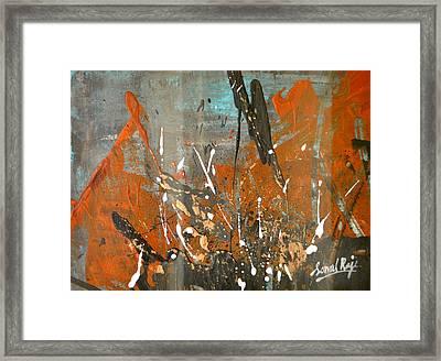 Copper Moon Framed Print