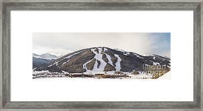 Copper Mountain Ski Resort Framed Print