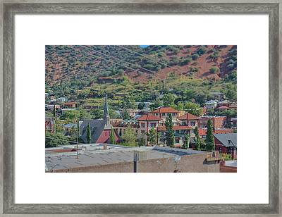 Framed Print featuring the photograph Copper Queen Hotel by Dan McManus